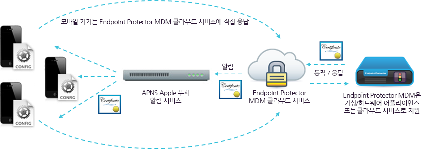 Mobile Device Management APNS certificate infograph